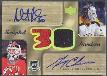 2005/06 The Cup #SNBC Martin Brodeur Gerry Cheevers Scripted Numbers Jersey Auto #03/30