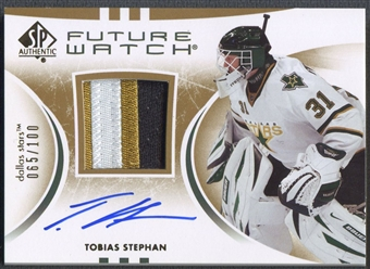 2007/08 SP Authentic #211 Tobias Stephan Limited Rookie Patch Auto #065/100