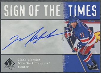 2000/01 SP Authentic #MM Mark Messier Sign of the Times Auto SP