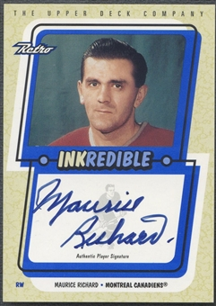 1999/00 Upper Deck Retro #MAR Maurice Richard Inkredible Auto