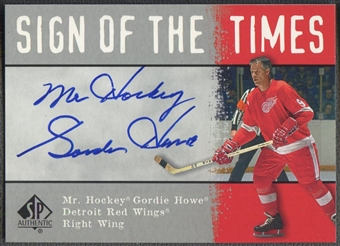 2000/01 SP Authentic #GH Gordie Howe Sign of the Times Auto