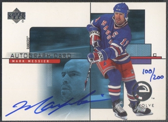 2000/01 Upper Deck #AMM Mark Messier e-Card Prizes Auto #100/200