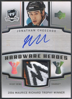 2006/07 The Cup #HHJC Jonathan Cheechoo Hardware Heroes Patch Auto #1/1