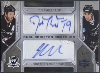 2006/07 The Cup #DSTC Joe Thornton & Jonathan Cheechoo Scripted Swatches Dual Patch Auto #3/5