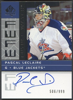 2002/03 SP Authentic #185 Pascal LeClaire Rookie Auto /999