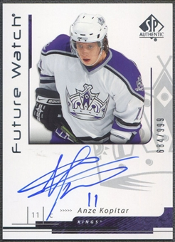 2006/07 SP Authentic #184 Anze Kopitar Rookie Auto #684/999