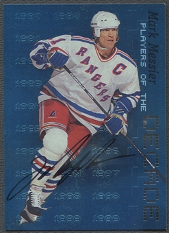 1999/00 BAP Millennium #D2 Mark Messier Players of the Decade Auto #0004/1000 /90