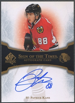 2007/08 SP Authentic #STPK Patrick Kane Sign of the Times Rookie Auto