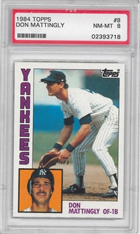 1984 Topps Baseball #8 Don Mattingly Rookie PSA 8 (NM-MT) *3718