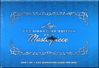 2013 Leaf Cut Signature Edition Masterpiece Hobby Box