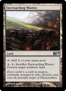 Magic the Gathering 2014 Single Encroaching Wastes Foil