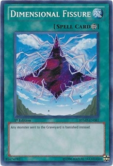 Yu-Gi-Oh Ra Mega Pack Single Dimensional Fissure Secret Rare