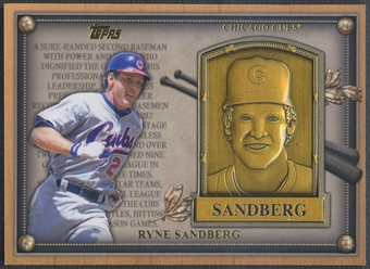 2012 Topps Update #HOFRS Ryne Sandberg Gold Hall of Fame Plaque