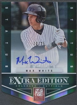 2012 Elite Extra Edition #9 Max White Signature Status Emerald Rookie Auto #10/25