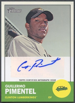 2012 Topps Heritage Minors #GP Guillermo Pimentel Real One Rookie Auto