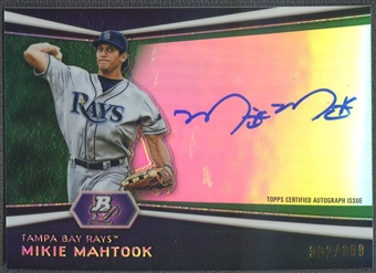 2012 Bowman Platinum #MM Mikie Mahtook Prospect Green Refractor Rookie Auto #302/399