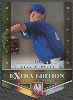 2012 Elite Extra Edition #147 Collin Wiles Status Gold Rookie #2/5