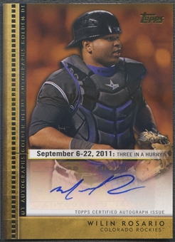2012 Topps Update #WR Wilin Rosario Golden Debut Rookie Auto