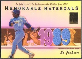 2002 Topps Tribute #BJ Bo Jackson Memorable Materials Jersey