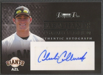 2007 TRISTAR Prospects Plus #CC Charlie Culberson Farm Hands Rookie Auto