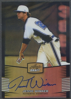 2012 Leaf Metal Draft #JW1 Jesse Winker Prismatic Rookie Auto #55/99