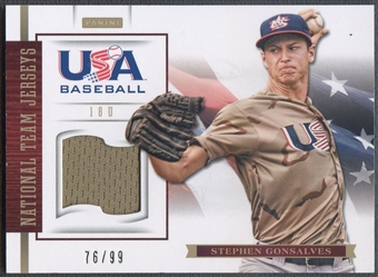 2012 USA Baseball #8 Stephen Gonsalves 18U National Team Jersey #76/99