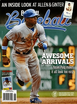 2013 Beckett Baseball Monthly Price Guide (#90 September) (Puig)