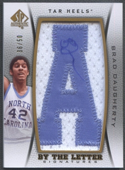"2012/13 SP Authentic #BD Brad Daugherty By The Letter ""A"" Patch Auto #36/50"