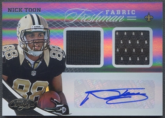 2012 Certified #342 Nick Toon Rookie Jersey Auto #410/499