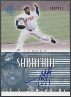 2002 SP Authentic #CS C.C. Sabathia Chirography Auto #304/442