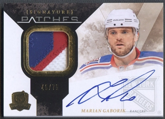 2010/11 The Cup #SPMA Marian Gaborik Signature Patch Auto #45/75