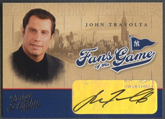 2004 Leather and Lumber #1 John Travolta Fans of the Game Auto SP