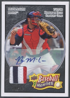 2008 Upper Deck Heroes #10 Brian McCann Patch Auto #19/25