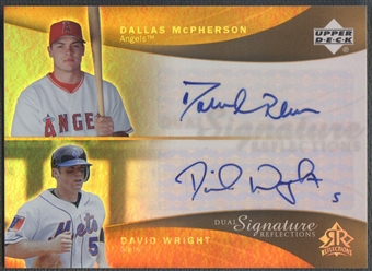 2005 Reflections #DMDW Dallas McPherson & David Wright Dual Signatures Auto