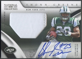 2009 Playoff National Treasures #132 Shonn Greene Rookie Patch Auto #02/99