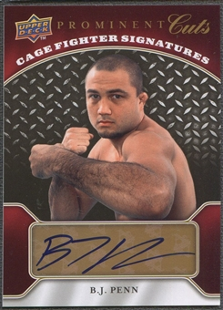2009 Upper Deck Prominent Cuts #CFSBP B.J. Penn Cage Fighter Signatures Auto