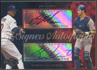 2006 Topps Co-Signers #CS42 Joe Mauer & Francisco Liriano Dual Auto