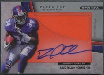 2012 Topps Strata #CCARDW David Wilson Clear Cut Rookie Platinum Spikes Auto #1/1