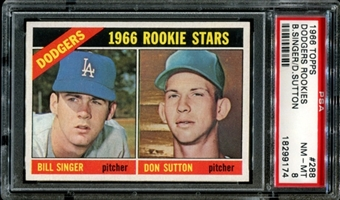 1966 Topps Baseball #288 Don Sutton Rookie PSA 8 (NM-MT) *9174