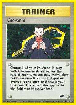 Pokemon Gym Challenge 1st Edition Single Trainer Giovanni 18/132 - NEAR MINT (NM)