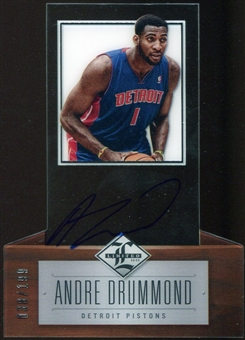 2012/13 Panini Limited #166 Andre Drummond Autograph 38/199