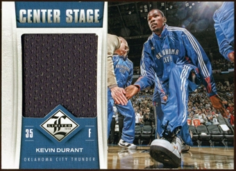 2012/13 Panini Limited Center Stage Materials #1 Kevin Durant 78/199