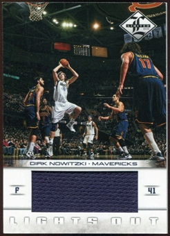 2012/13 Panini Limited Lights Out Materials #1 Dirk Nowitzki 190/199