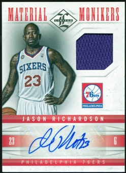 2012/13 Panini Limited Monikers Materials #6 Jason Richardson Autograph 7/99