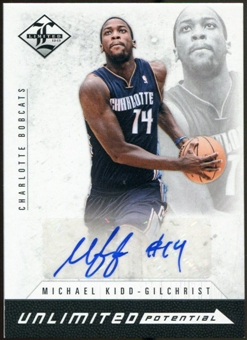 2012/13 Panini Limited Unlimited Potential Signatures #14 Michael Kidd-Gilchrist Autograph /199