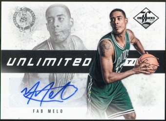 2012/13 Limited Unlimited Potential Signatures #38 Fab Melo Autograph /199