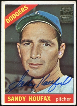 2012 Topps Archives Originals Autographs #9 Sandy Koufax Autograph 3/5 1966 Topps #100