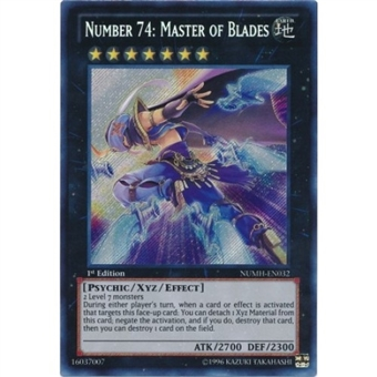 Yu-Gi-Oh Number Hunters Single Number 74: Master of Blades Secret Rare - NEAR MINT (NM)