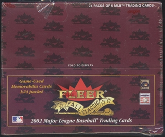2002 Fleer Fall Classics Baseball Retail Box