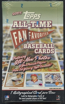 2005 Topps All Time Fan Favorites Baseball Retail Box